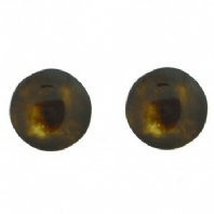 Dark tortoiseshell pattern stud earrings (Code 1022)